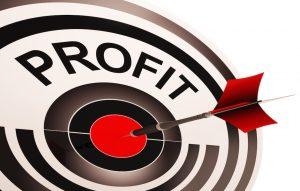 growing net profit, target bullseye